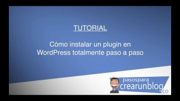 Cómo instalar un plugin en WordPress