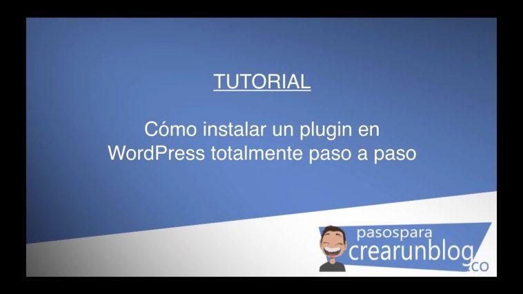 Cómo instalar un plugin en WordPress