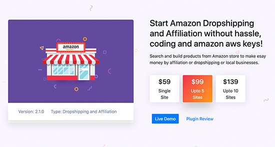 WP Amazon Affiliate and Dropshipping