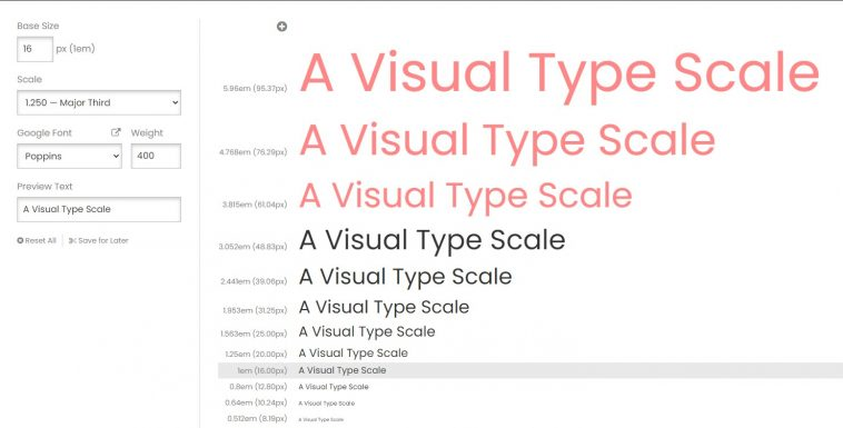 Type Scale - Un escalador visual de tamaños de letra para la web 1